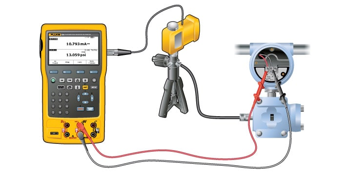 Calibrating a Hart Smart Pressure Transmitter with a Fluke 754