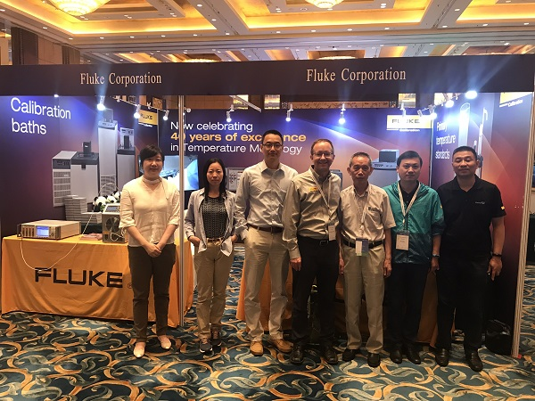 The Fluke Booth Team at Tempmeko 2019 Temperature Metrology Conference